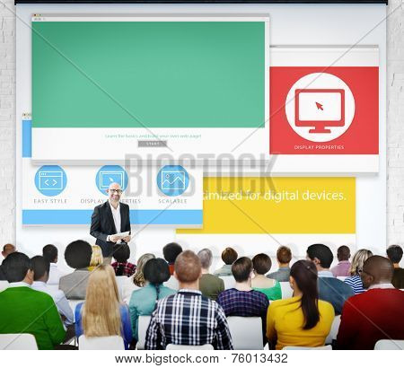 Group of People Seminar Web Designer Concept