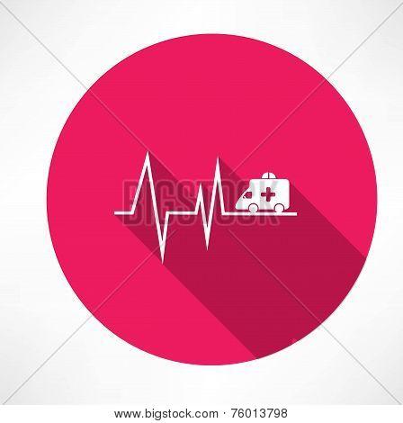 ambulance on pulse icon