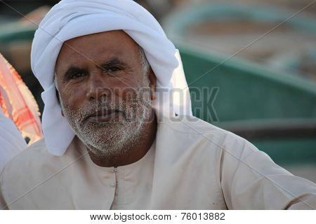 Omani Man looking at the camera