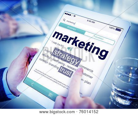 Digital Dictionary Marketing Tablet Concept