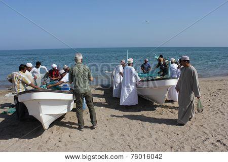 Daily Fish Market In Barka