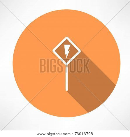 road sign - storm icon vector