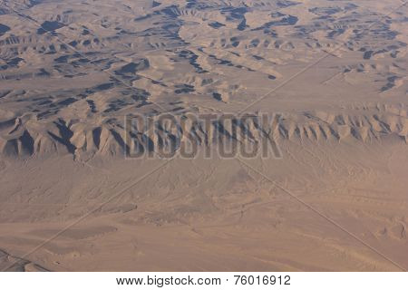 Oman Desert, Aereal View