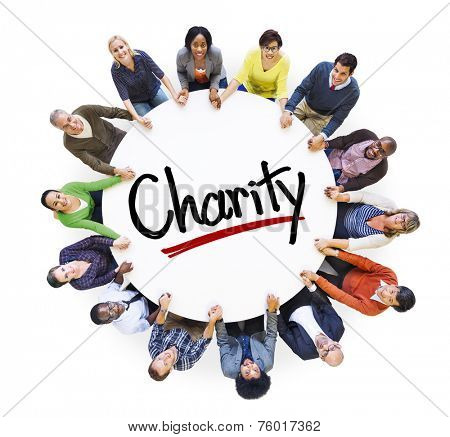 Multi-Ethnic Group of People and Charity Concepts
