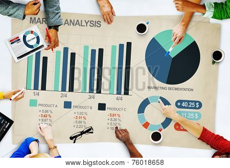 People Business Market Analysis Concept