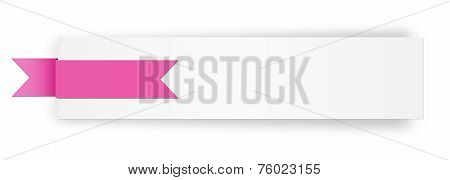 The Blank White Banner With Stylish Ribbon
