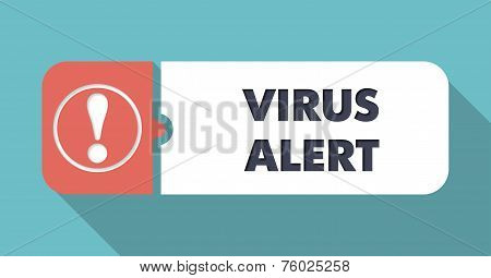Virus Alert on Orange Background in Flat Design.