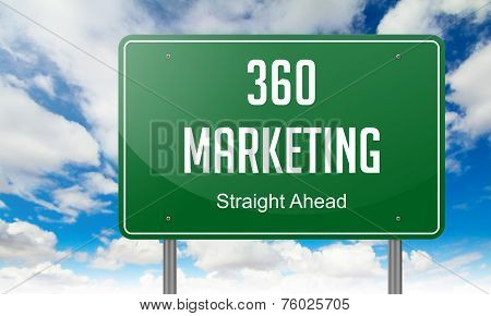 Marketing 360 on Highway Signpost.
