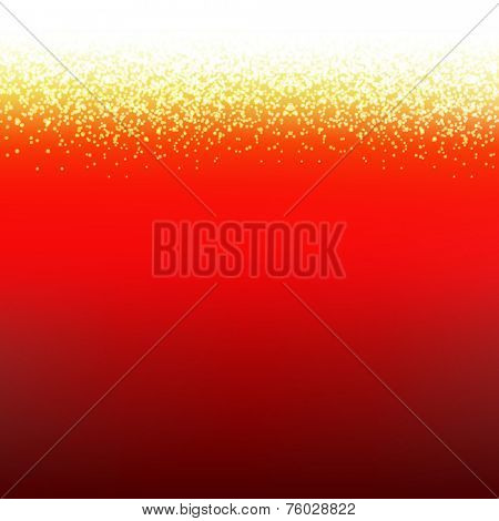 Red Xmas Card With Text With Gradient Mesh, Vector Illustration