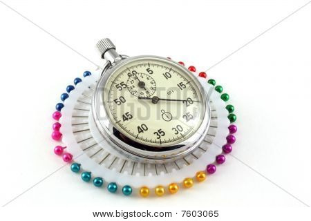 Scatter Pins And Stop-watch