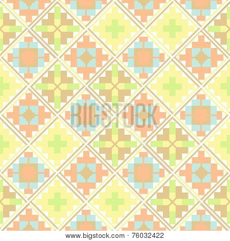 Seamless Geometric Ethnic Patchwork Pattern