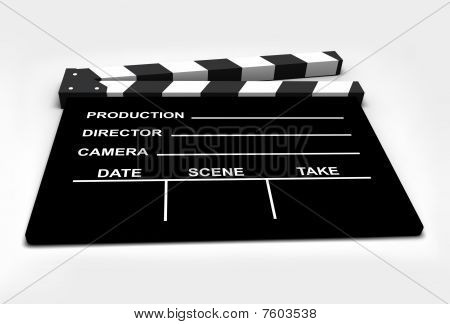 Film - Clapboard isolated