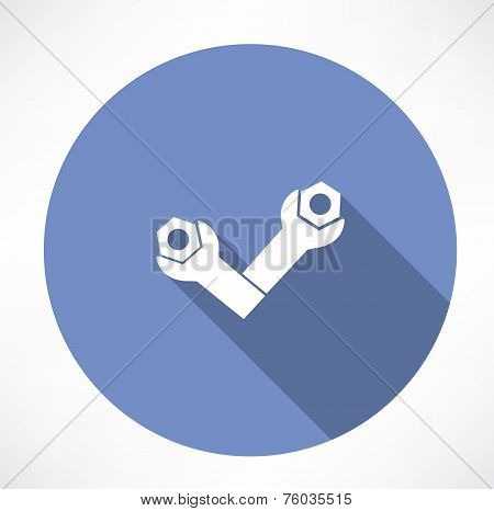 wrenches and bolts icon icon