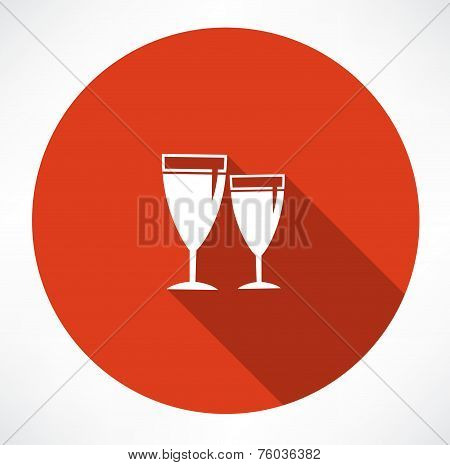 vector wineglass icons