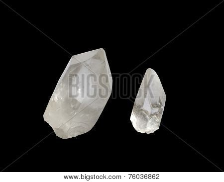 Quartz crystal points