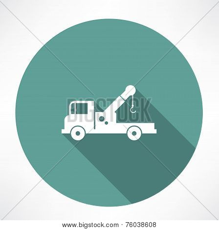 car with a crane icon