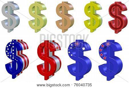 Set dollars 3D