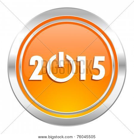 new year 2015 icon, new years symbol