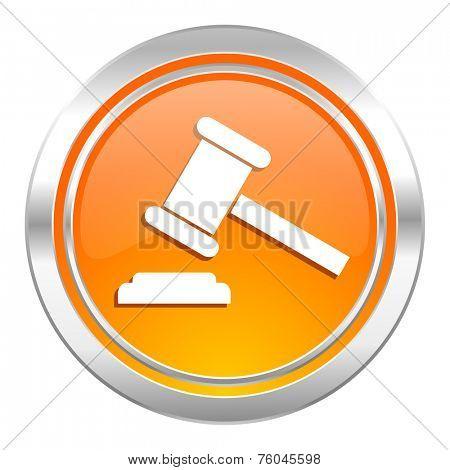 auction icon, court sign, verdict symbol