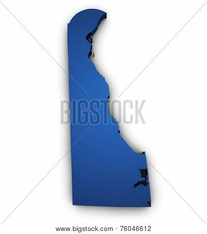 Map Of Delaware 3D Shape