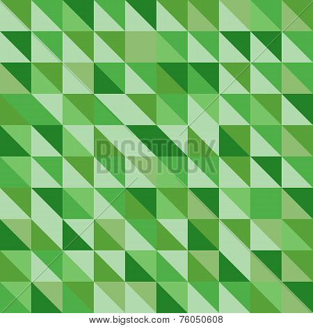 Retro Triangle Pattern With Green Background