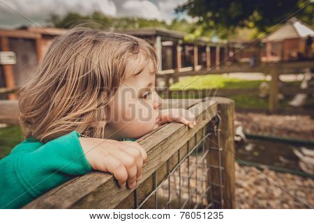 Girl on the fence
