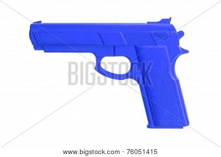 Blue Training Gun Isolated On White