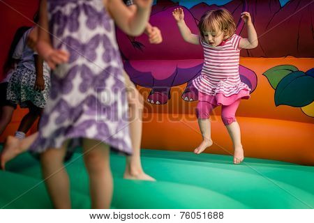 Inside bouncy castle