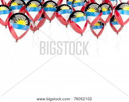 Balloon Frame With Flag Of Antigua And Barbuda