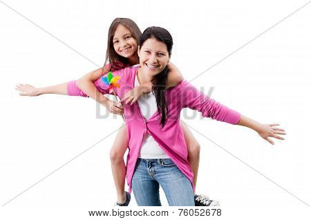 Happy Mother And Daughter Having Fun