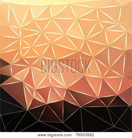 Abstract Polygonal Faceted Background, Vector