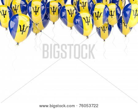 Balloon Frame With Flag Of Barbados