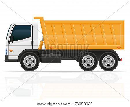 Tipper Truck For Construction Vector Illustration