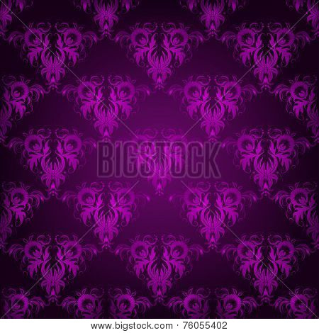 Damask Seamless Of Damask Floral Elements.