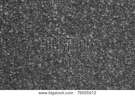 Abstract Texture Fleecy Jersey Of Black Color