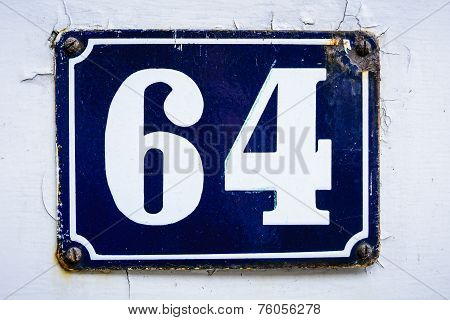 Number sixty four