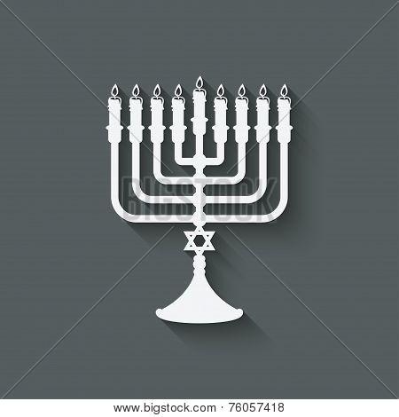 Hanukkah menorah symbol