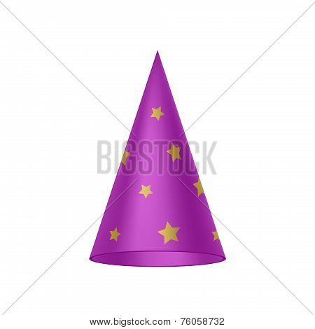 Purple sorcerer hat with golden stars