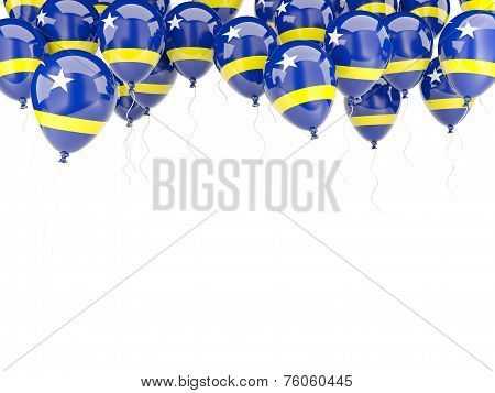 Balloon Frame With Flag Of Curacao