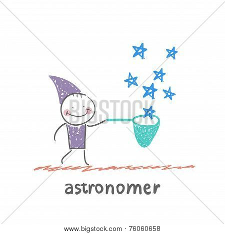 astronomer collects stars