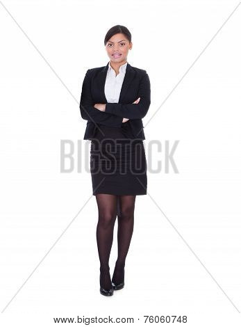 Young Businesswoman Standing In Pose