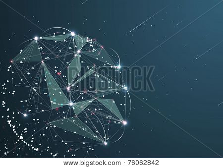 Abstract technological sphere