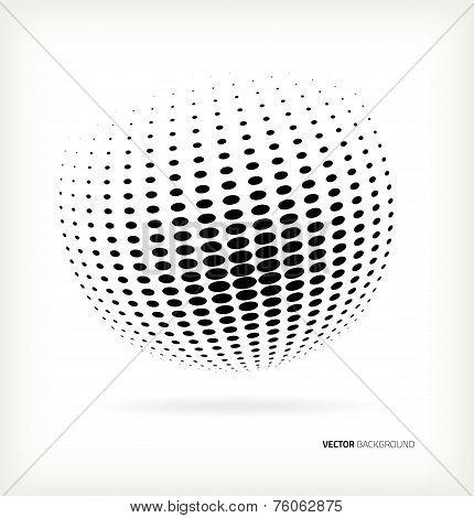 World halftone on white background
