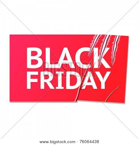 scratches black Friday sticker