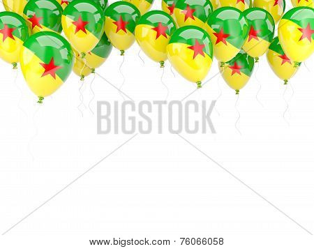 Balloon Frame With Flag Of French Guiana