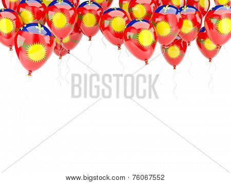 Balloon Frame With Flag Of Guadeloupe