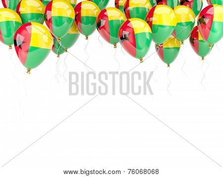 Balloon Frame With Flag Of Guinea Bissau
