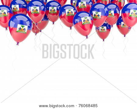 Balloon Frame With Flag Of Haiti