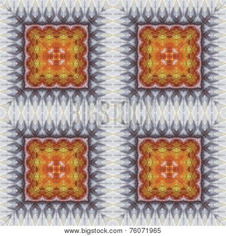 Seamless pattern oil painting