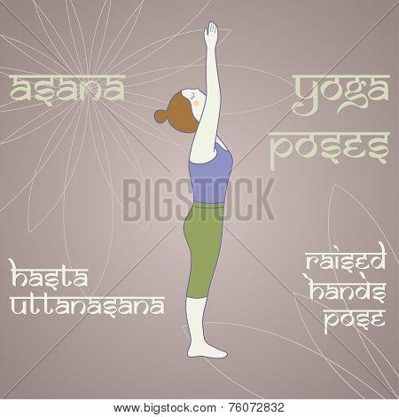 Yoga. Raised Hands Pose.
